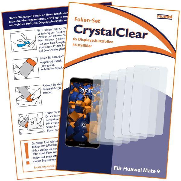 Displayschutzfolie 6 Stck. CrystalClear für Huawei Mate 9