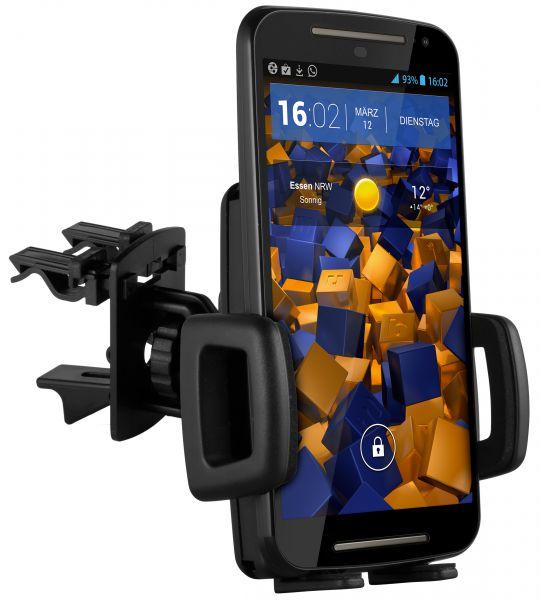 Lüftungsschlitz KFZ Halterung Vent Mount Kugelgelenk für Motorola Moto G 2. Generation