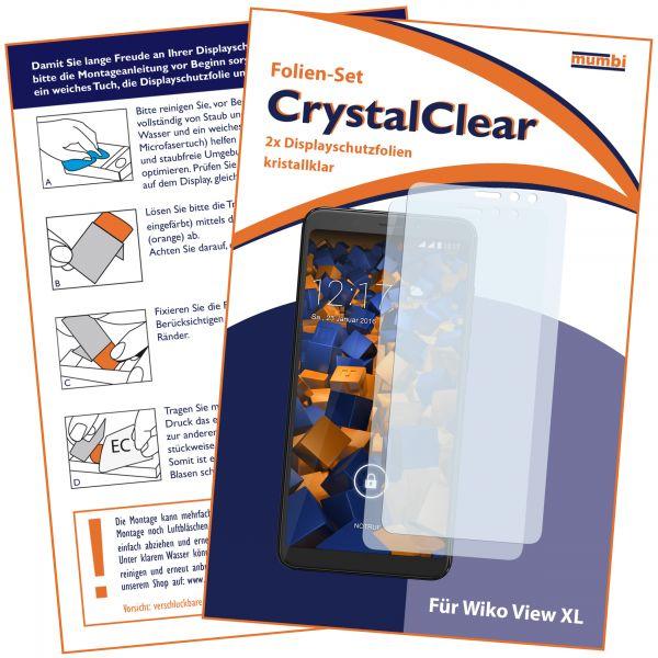 Displayschutzfolie 2 Stck. CrystalClear für Wiko View XL