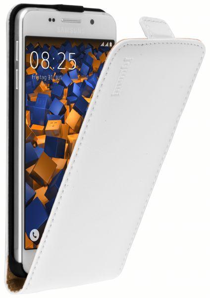 Flip Case Ledertasche weiß für Samsung Galaxy A3 (2016)