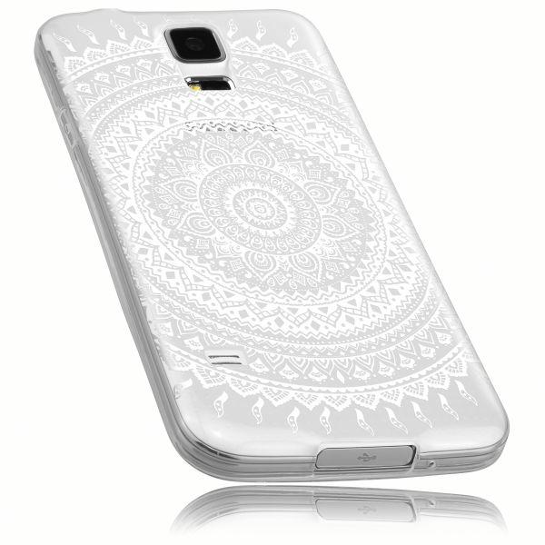 TPU Hülle transparent Motiv Mandala für Samsung Galaxy S5 / Galaxy S5 Neo
