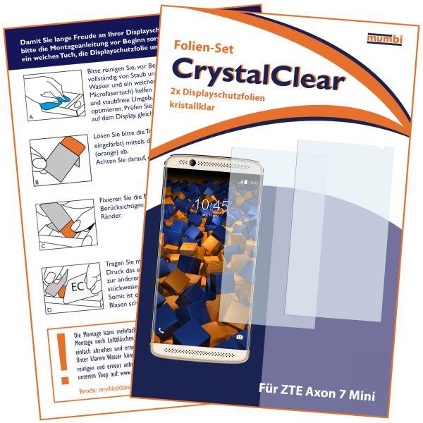 Displayschutzfolie 2 Stck. CrystalClear für ZTE Axon 7 Mini