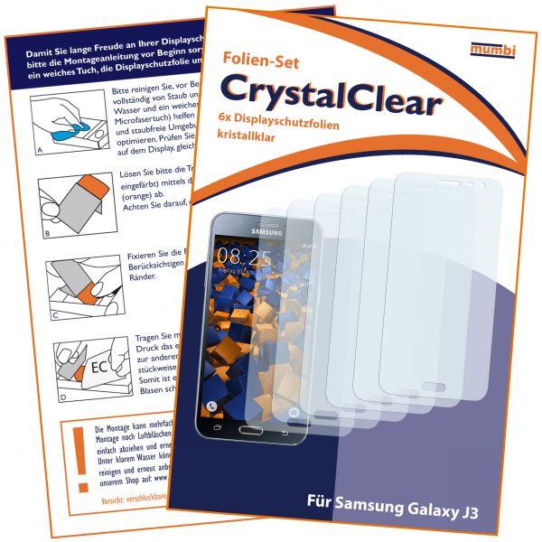 Displayschutzfolie 6 Stck. CrystalClear für Samsung Galaxy J3 (2016)