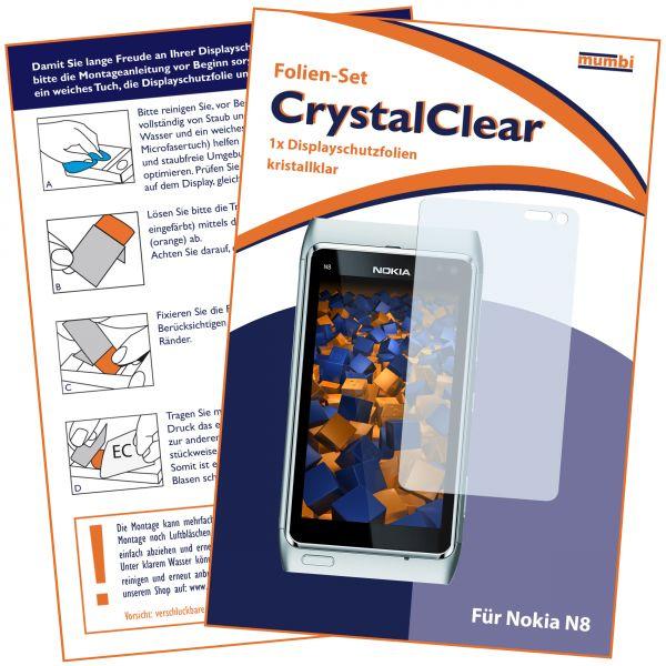 Displayschutzfolie CrystalClear für Nokia N8