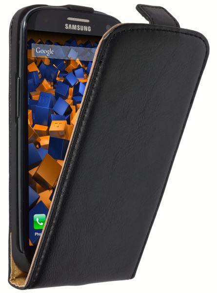 Flip Case Tasche schwarz für Samsung Galaxy S3 / S3 Neo