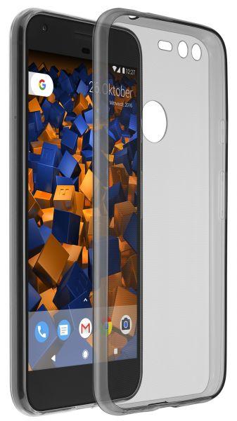 TPU Hülle Ultra Slim schwarz transparent für Google Pixel XL