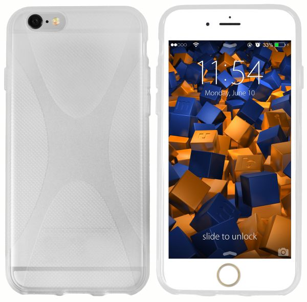 TPU Hülle X-Design transparent weiß für Apple iPhone 6 / 6s
