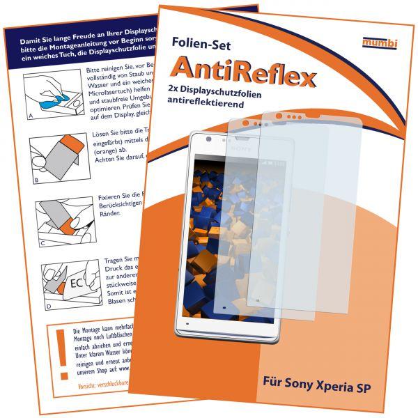 Displayschutzfolie 2 Stck. AntiReflex für Sony Xperia SP