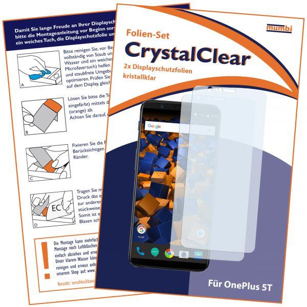 Displayschutzfolie 2 Stck. CrystalClear für OnePlus 5T