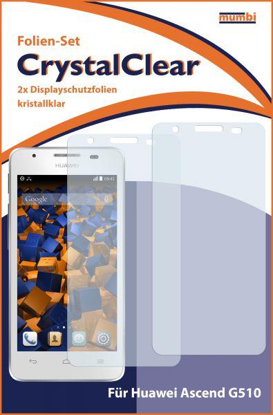 Displayschutzfolie 2 Stck. CrystalClear für Huawei Ascend G510