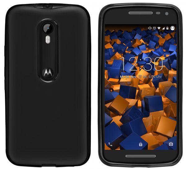 TPU Hülle schwarz für Motorola Moto G 3. Generation