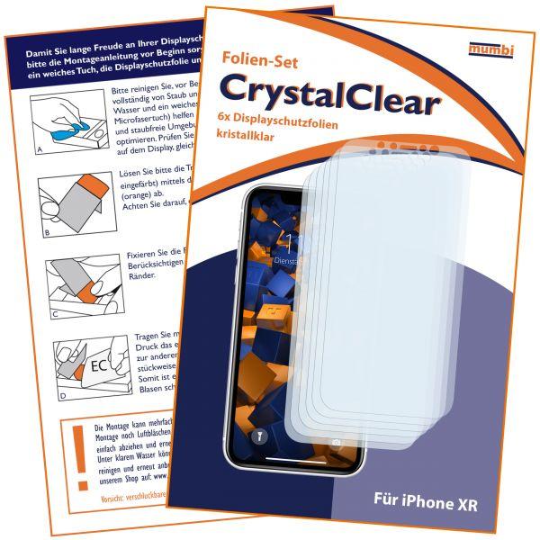Displayschutzfolie 6 Stck. CrystalClear für Apple iPhone XR