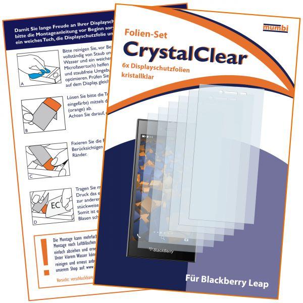 Displayschutzfolie 6 Stck. CrystalClear für Blackberry Leap
