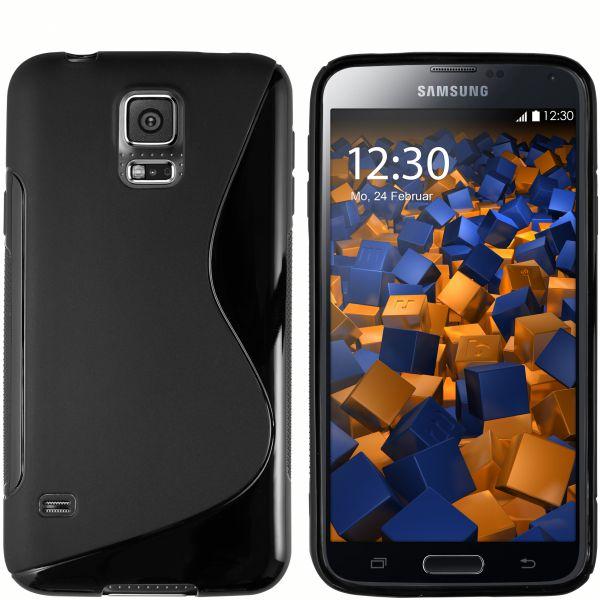 TPU Hülle S-Design schwarz für Samsung Galaxy S5 / S5 Neo