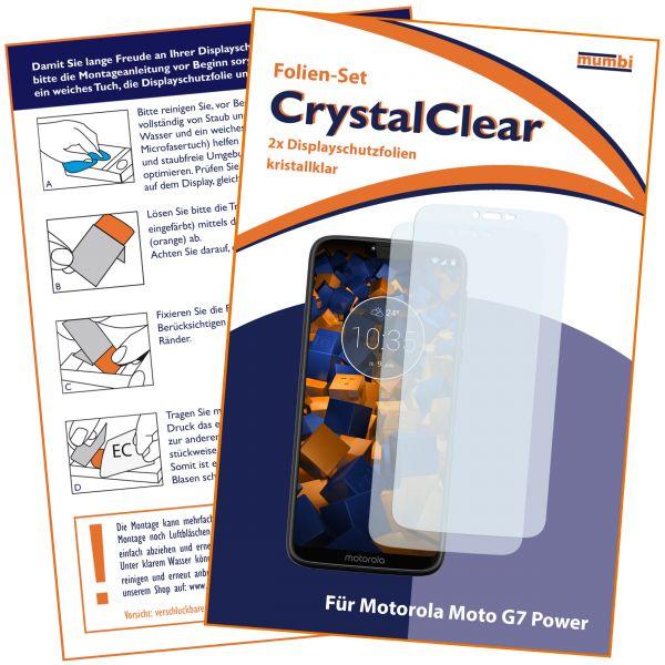 Displayschutzfolie 2 Stck. CrystalClear für Motorola Moto G7 Power