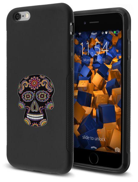 TPU Hülle GRIP Motiv Calavera schwarz für Apple iPhone 6 / 6s
