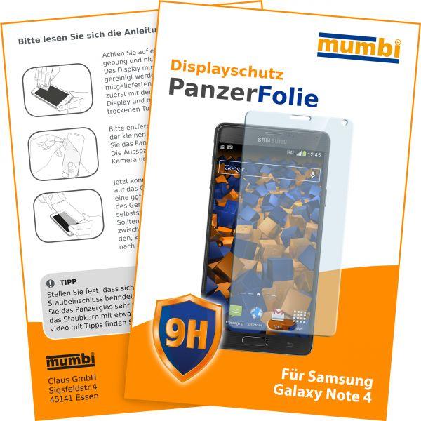 Panzerglasfolie flexible Echtglasfolie Hartglas für Samsung Galaxy Note 4
