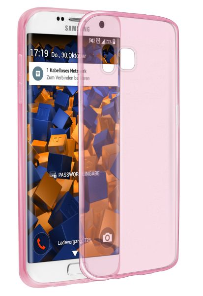 TPU Hülle Ultra Slim pink transparent für Samsung Galaxy S7 Edge