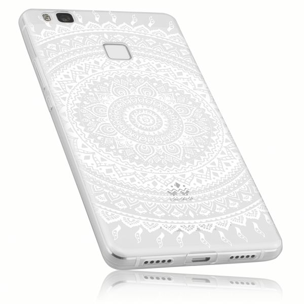TPU Hülle Ultra Slim transparent Motiv Mandala für Huawei P9 Lite