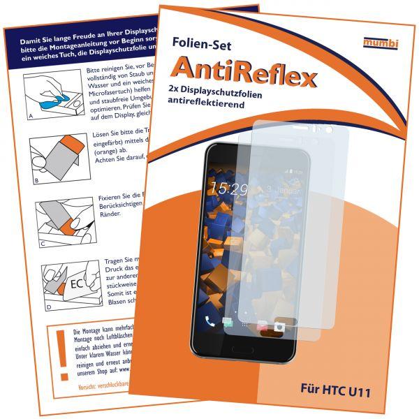 Displayschutzfolie 2 Stck. AntiReflex für HTC U11