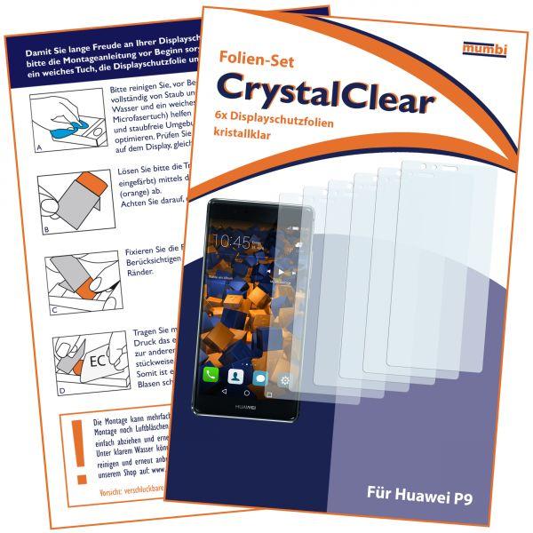 Displayschutzfolie 6 Stck. CrystalClear für Huawei P9