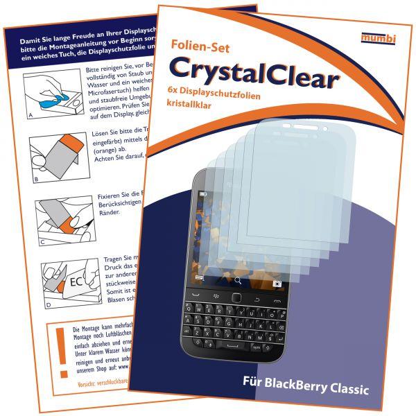Displayschutzfolie 6 Stck. CrystalClear für Blackberry Classic
