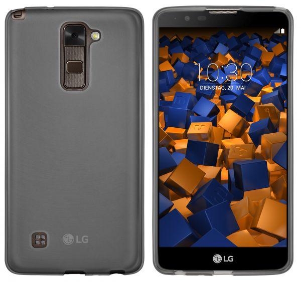 TPU Hülle schwarz transparent für LG Stylus 2 Plus / Stylus 2