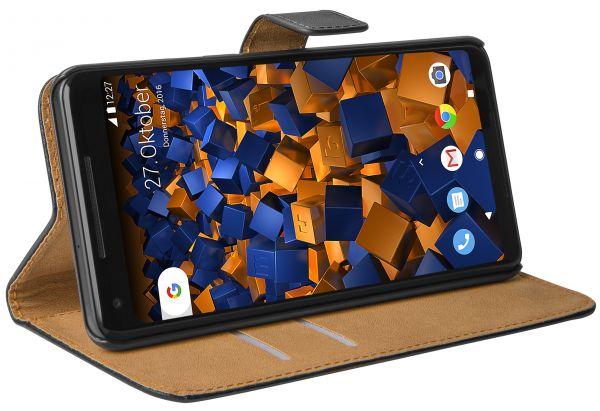 Bookstyle Tasche schwarz für Google Pixel 2 XL