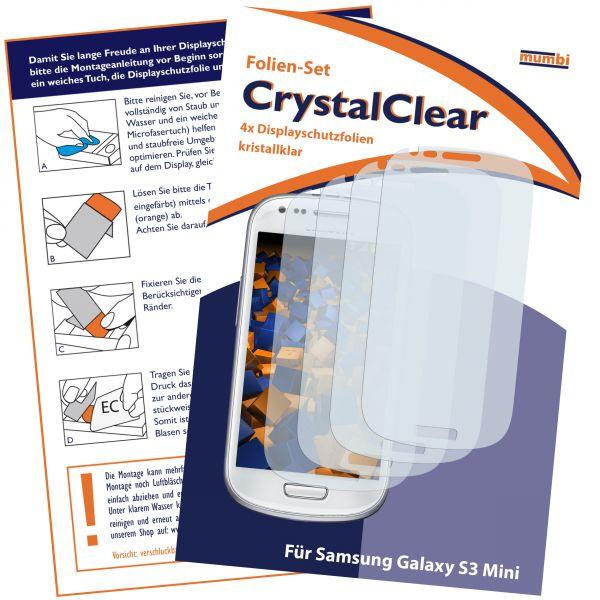Displayschutzfolie 4 Stck. CrystalClear für Samsung Galaxy S3 Mini