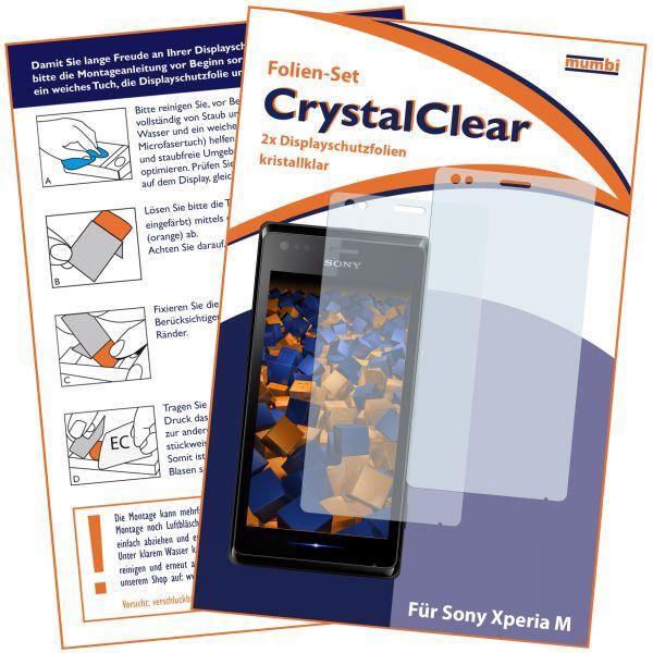 Displayschutzfolie 2 Stck. CrystalClear für Sony Xperia M