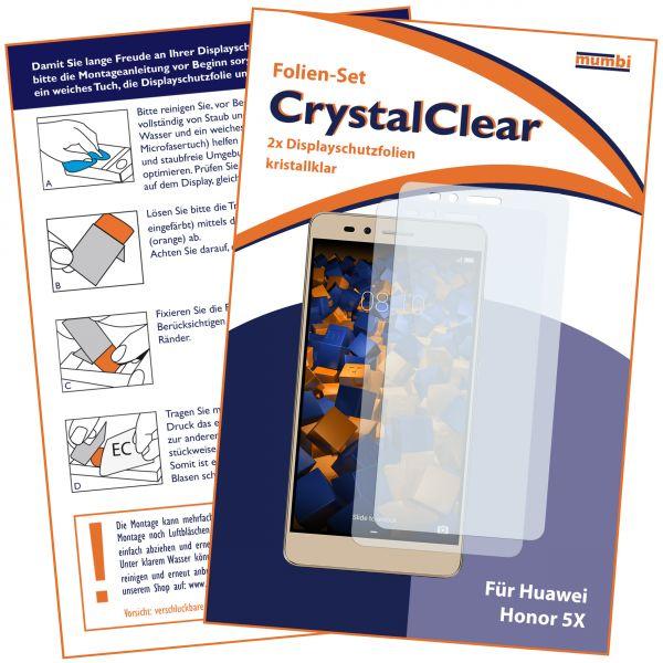 Displayschutzfolie 2 Stck. CrystalClear für Huawei Honor 5X