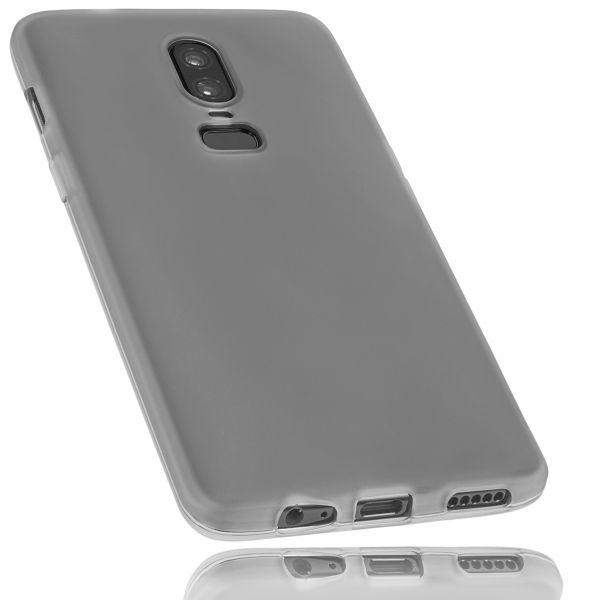 TPU Hülle schwarz transparent für OnePlus 6