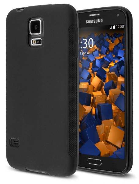 TPU Hülle double GRIP schwarz für Samsung Galaxy S5 / Galaxy S5 Neo