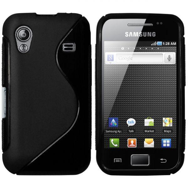 TPU Hülle S-Design schwarz für Samsung Galaxy Ace