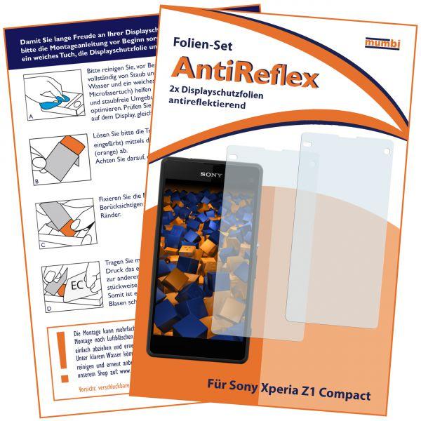 Displayschutzfolie 2 Stck. AntiReflex für Sony Xperia Z1 Compact