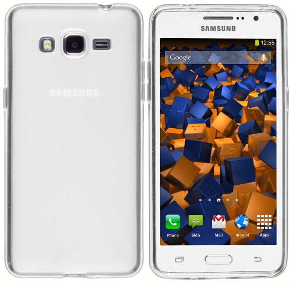 TPU Hülle weiß transparent für Samsung Galaxy Grand Prime