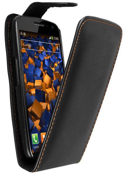 Flip Case Tasche schwarz für Samsung Google Galaxy Nexus