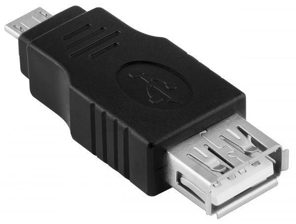 Adapter Micro USB Micro-B Stecker auf USB A Buchse