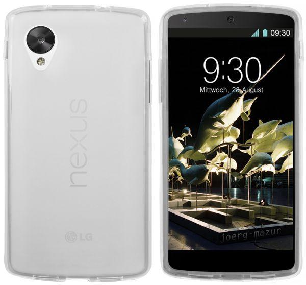 TPU Hülle transparent weiß für LG Google Nexus 5