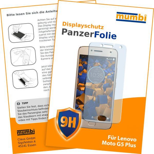 Panzerglasfolie Hartglas 9H für Motorola Moto G5 Plus