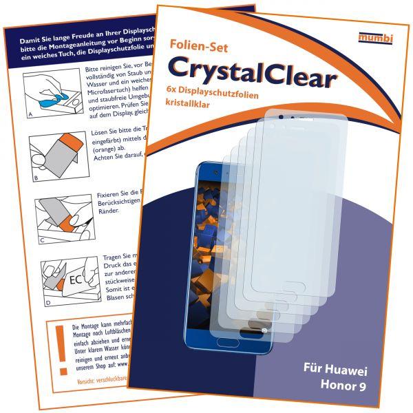 Displayschutzfolie 6 Stck.CrystalClear für Huawei Honor 9