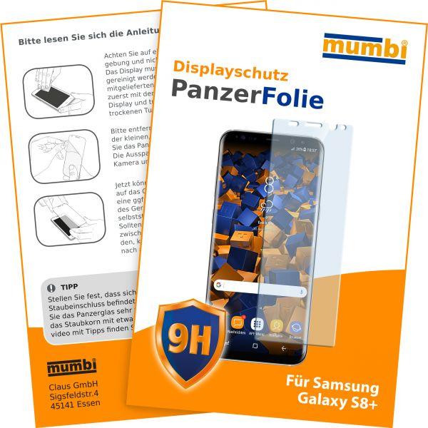 Panzerglasfolie Hartglas 9H für Samsung Galaxy S8 Plus