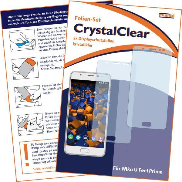 Displayschutzfolie 2 Stck. CrystalClear für Wiko U Feel Prime