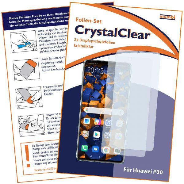 Displayschutzfolie 2 Stck. CrystalClear für Huawei P30