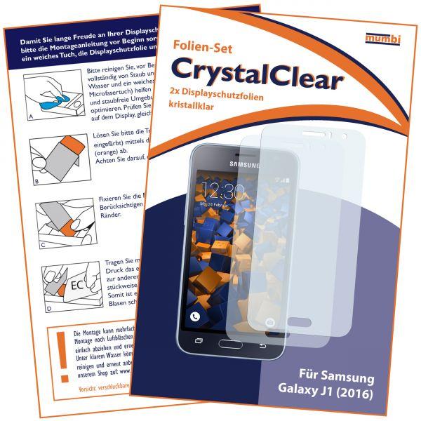Displayschutzfolie 2 Stck. CrystalClear für Samsung Galaxy J1 (2016)