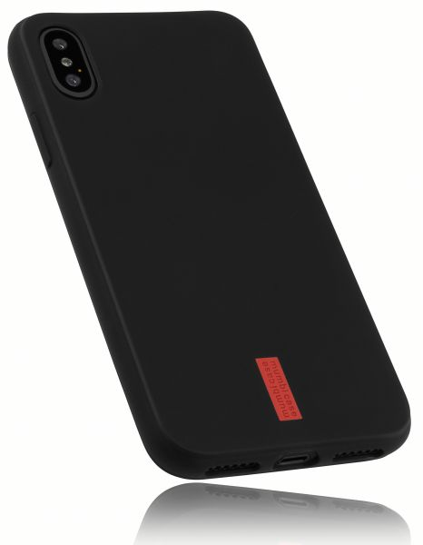 TPU Hülle schwarz mit Logo für Apple iPhone XS / X