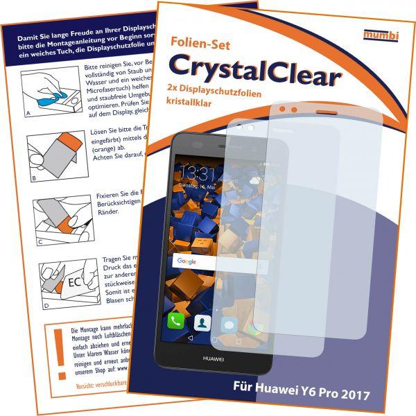 Displayschutzfolie 2 Stck. CrystalClear für Huawei Y6 Pro (2017) / P9 Lite mini