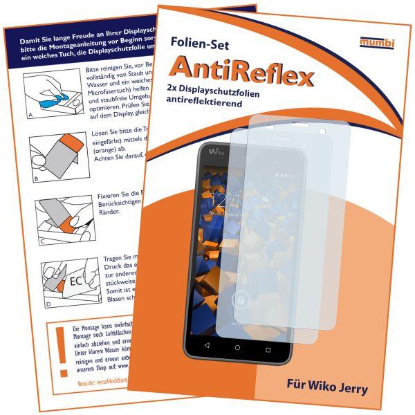 Displayschutzfolie 2 Stck. AntiReflex für Wiko Jerry