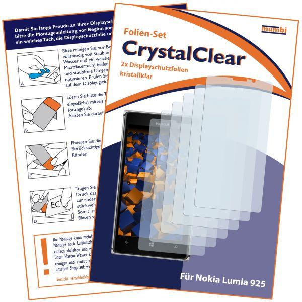 Displayschutzfolie 6 Stck. CrystalClear für Nokia Lumia 925