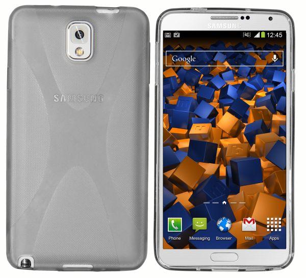 TPU Hülle X-Design schwarz transparent für Samsung Galaxy Note 3